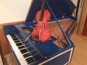 お客さまのリクエストにより、朝のチェンバロ&ヴァイオリンコンサート♪