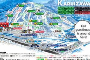 当館は写真右にございます。隣が軽井沢プリンスとなり、スキーとスノボがお楽しみいただけます。